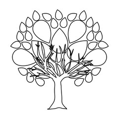tree abstract icon image vector illustration design