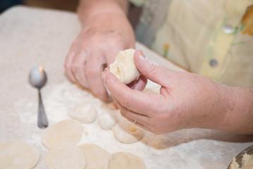 Homemade dumplings with tasty filling.