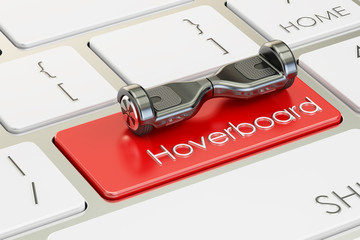 hoverboard button on computer keyboard, 3D rendering