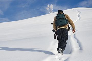 Fotografo nella neve