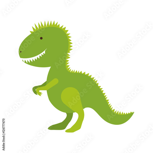 dinosaur toy icon image vector illustration design