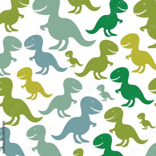 dinosaur toy icon pattern background image vector illustration design