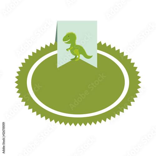 dinosaur toy label icon image vector illustration design