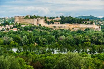 Saint Andre Fort and Abbey. Villeneuve-les-Avignon, France.