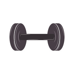 silhouette dumbbell for training in gym vector illustration