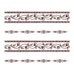 Mehendi pattern illustration
