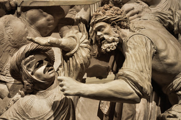 Massacre of the Innocents, Sculpture of the cathedral of Avila, Spain