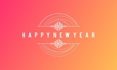Happy new year wallpaper, background, banner, vector illustration