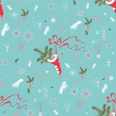 Christmas sock pattern
