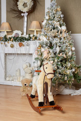 Beautiful Christmas and New Year interior.