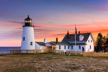 Pemaquid Point Light in Bristol, Maine, USA.