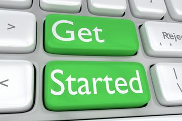 Get Started concept