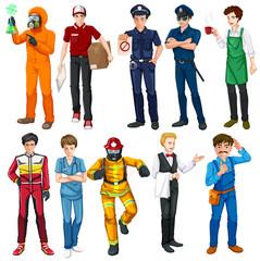 Men doing different types of jobs