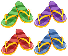 Sandles in four different colors