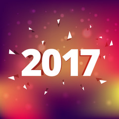 elegant 2017 text style effect on colorful background
