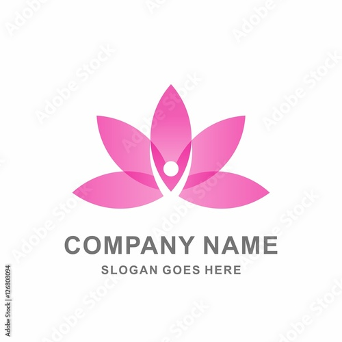Lotus flower woman shape relaxation skincare wellness business lotus flower woman shape relaxation skincare wellness business company stock vector logo design template mightylinksfo