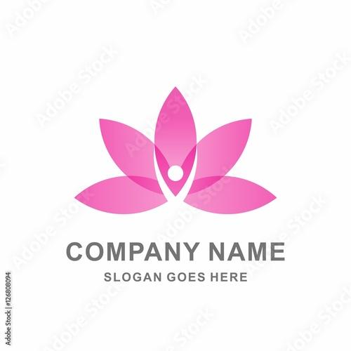 Lotus Flower Woman Shape Relaxation Skincare Wellness Business