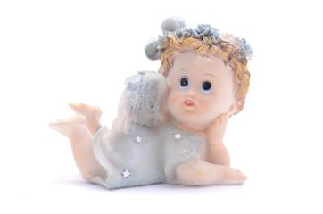 Figurine angel isolated on white