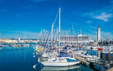 Sète, France, port de pêche.