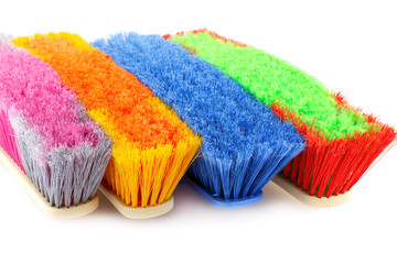 Colorful brooms
