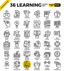 Learning line icons