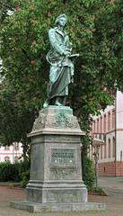 Friedrich Schiller Monument in Mainz, Germany