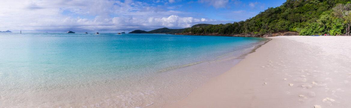 Whitehaven beach panorama at Whitsunday Island