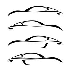 Speed Car logo design template.