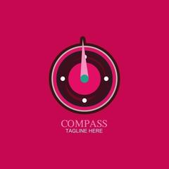 Compass Logo Travel Direction Logo Template. Vector illustration