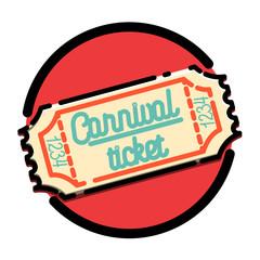 Color vintage Amusement park emblem