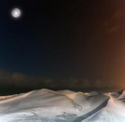 full moon, lake Ladoga, Leningrad region ,Russia