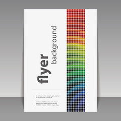 Abstract Modern Style Flyer or Book Cover Creative Design - Colorful Mosaic Pattern