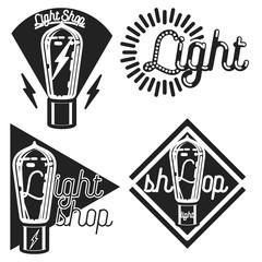 Vintage lighting shop emblems