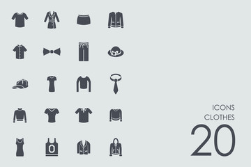 Set of clothes icons