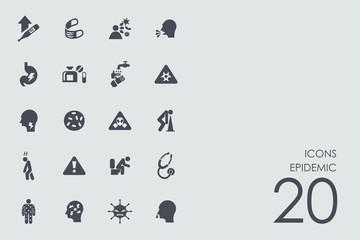 Set of epidemic icons