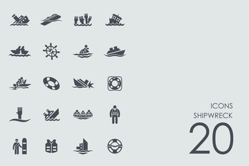 Set of shipwreck icons