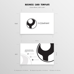 Business Cards Design Template. Name Cards Symbol. Size 55 mm x