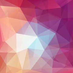Abstract geometric style pink background. Vector illustration. Pink, orange, purple colors