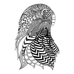 Vector illustration of an Abstract Ornamental Eagle