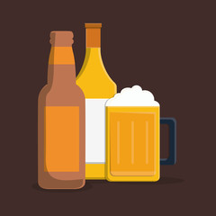 delicious cold beer icon vector illustration graphic design