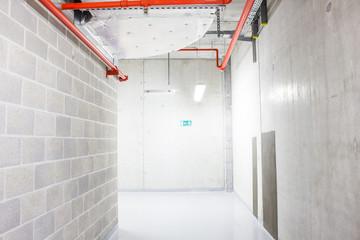 corridor in the basement