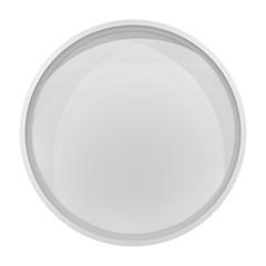 Illuminated circle white shelf for presentations