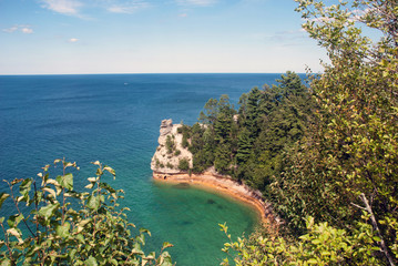 Miners Castle at Pictured Rocks National Lakeshore on Lake Superior near Munising, Michigan, USA