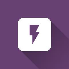 flash icon. flat style