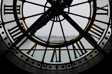 Large backlit clock in the Orsay Museum, Paris