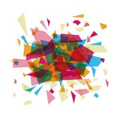 Polygonal figure icon. Geometric polygon and triangle theme. Vector illustration