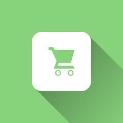 shopping cart icon. flat style