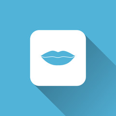 lip icon. flat style