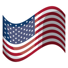 Usa flag icon. United nation country and american states theme. Isolated design. Vector illustration