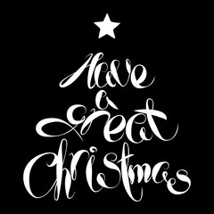 Vector Christmas Lettering. Have a great Christmas. New year hand written elements.